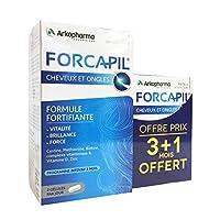 Arkopharma Forcapil 240 Gélules pour Cheveux et Ongles Promo 3 Mois + 1 Mois Offert