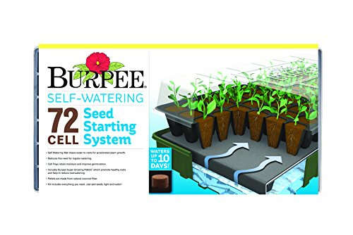 Burpee 72 Cell Self Watering Seed Starting Kit ()