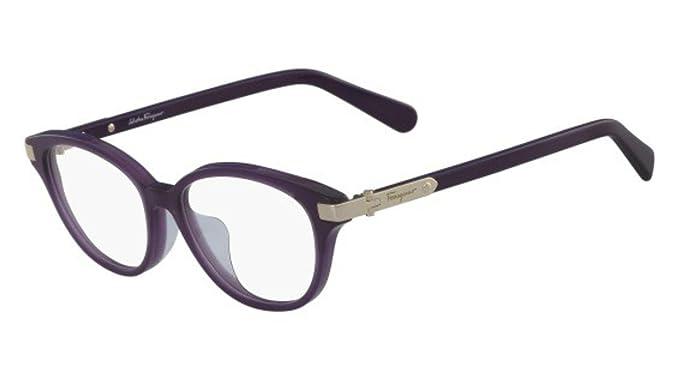 fa0831e0ed43 Image Unavailable. Image not available for. Color  Eyeglasses FERRAGAMO SF  2807 A 510 DARK PURPLE
