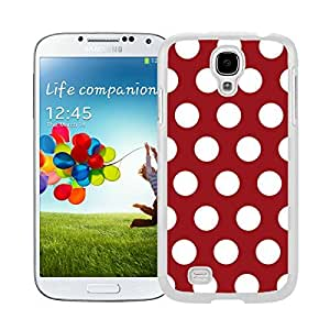 BINGO Trendy Polka Dot Dark red and White Watercolor Samsung Galaxy S4 i9500 Case White Cover by supermalls