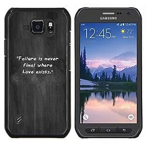 Caucho caso de Shell duro de la cubierta de accesorios de protección BY RAYDREAMMM - Samsung Galaxy S6Active Active G890A - Gris Niebla El incumplimiento Humo Cita inspiradora