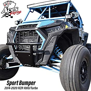 Image of Bumpers (2014-2019) RZR 1000 / Turbo Front Sport Bumper (Black)