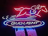 Desung 24''x20'' Bud-Light HORSE RACING Neon Sign (MultipleSizes) Man Cave Sports Bar Pub Beer Glass Lamp Light CX103