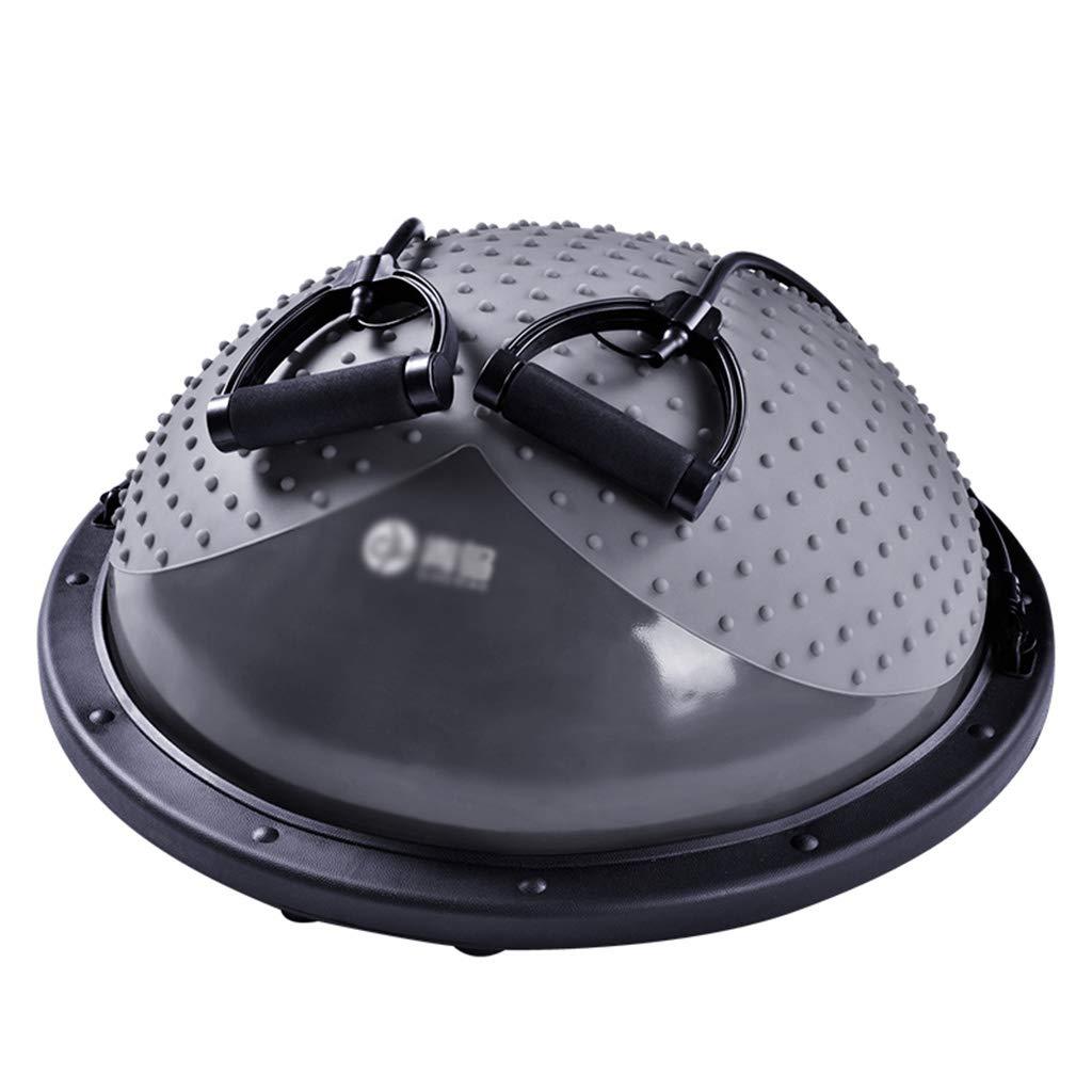 ウェーブスピードボール、半円ジムボール爆発防爆ヨガボールは体重リハビリトレーニングマッサージボール60 * 22CMを失う  Gray B07GS7W829