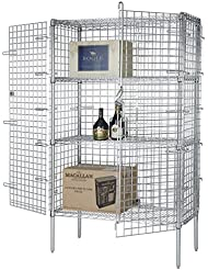 Focus Foodservice FSEC246063 Chromate Finish Security Cage Conversion Kit 24 X 60 X 63 Cage Only