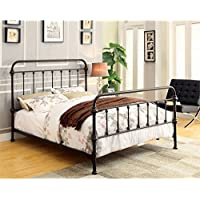 Furniture of America Celinda Twin Metal Spindle Bed in Dark Bronze