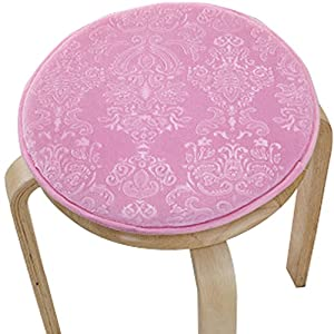 Upscale Velvet Art Round Seat Cushion Round Chair Cushion Baby Rounded Pad  Slip Chair Seat Student Thickened Round Pad Bar Stool Mat (style1, Light  Pink)
