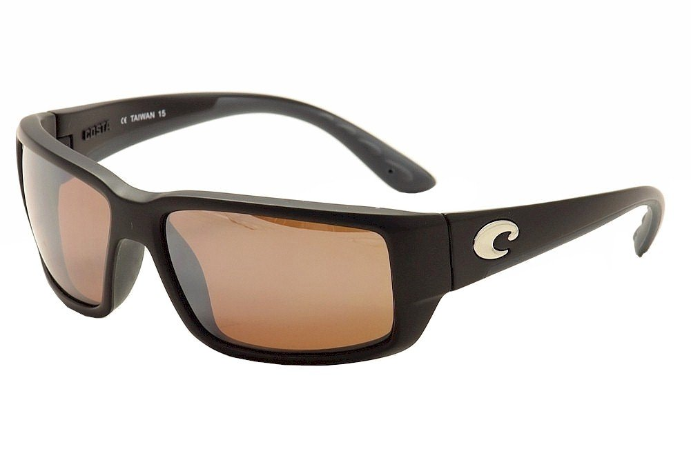 Costa Del Mar Fantail Sunglasses, Black/Silver Mirror 580Plastic by Costa Del Mar
