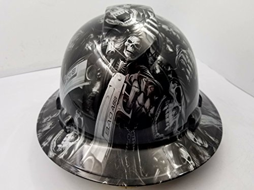 Wet Works Imaging Customized Pyramex Full Brim GRIM REAPER SKULL SHOOTER HARD HAT With Ratcheting Suspension CUSTOM LIDS CRAZY SICK CONSTRUCTION PPE by Wet Works Imaging (Image #4)