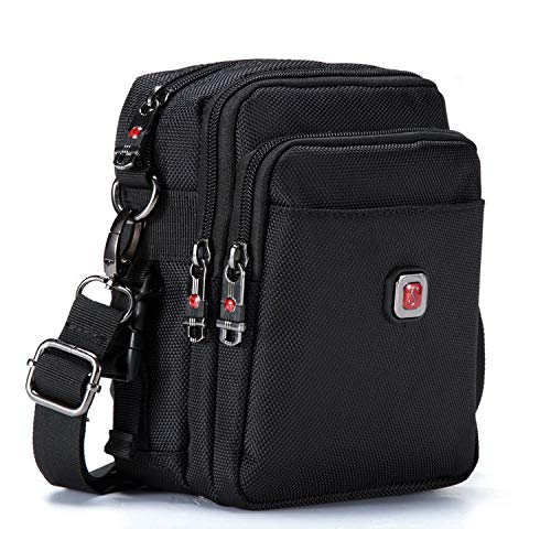 2018 Mens Bag Shoulder Crossbody Messenger Oxford Water-Resistent Waist Packs Zipper for Men Travel