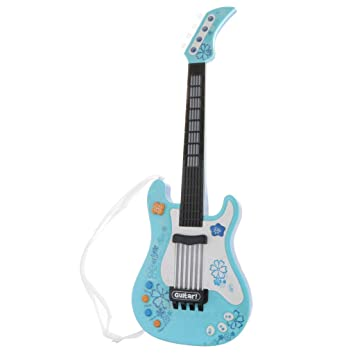 Sharplace Juguete de Guitarra Eléctrica Acústica Plástico Juego de Música para Niños - Azul