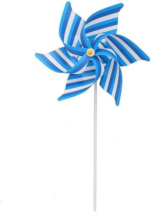 Uteruik Molinillo de Viento para decoración de Fiestas, Jardines, Palomas, pájaros, espantapájaros, 1 Unidad, Der#4: Amazon.es: Hogar