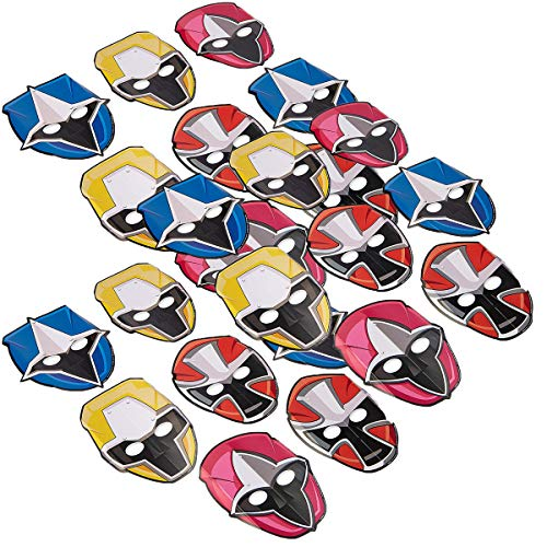 American Greetings Power Rangers Ninja Steel 24 Count Party Masks, Multicolor, One Size for $<!--$14.52-->