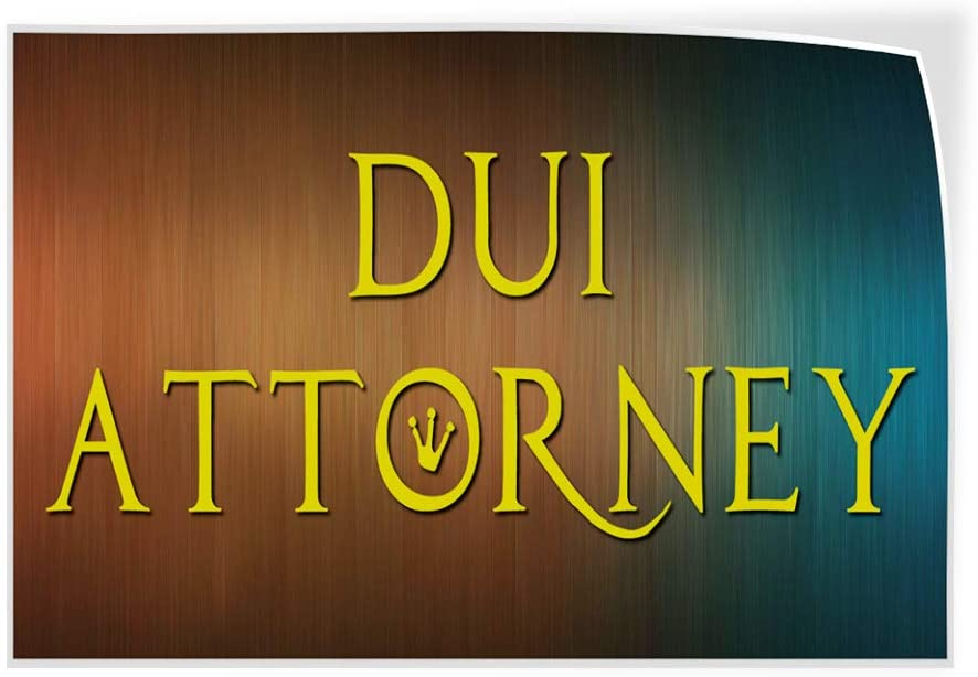 Set of 5 27inx18in Decal Sticker Multiple Sizes DUI Attorney Auto Car Vehicle Business DUI Attorney Outdoor Store Sign Brown