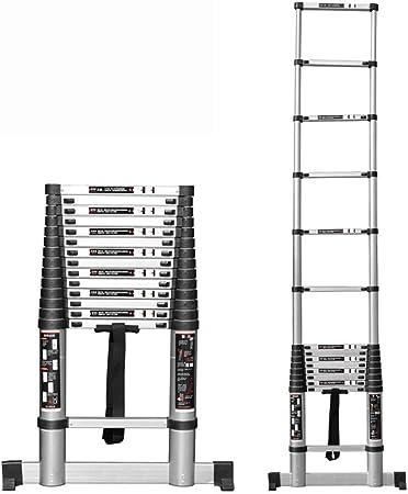Escalera telescópica HWF Escalera De Extensión Telescópica De Aluminio, Escalera Plegable Portátil Plegable Multiusos Extensible De DIY para La Ingeniería Casera De La Oficina del Desván: Amazon.es: Hogar