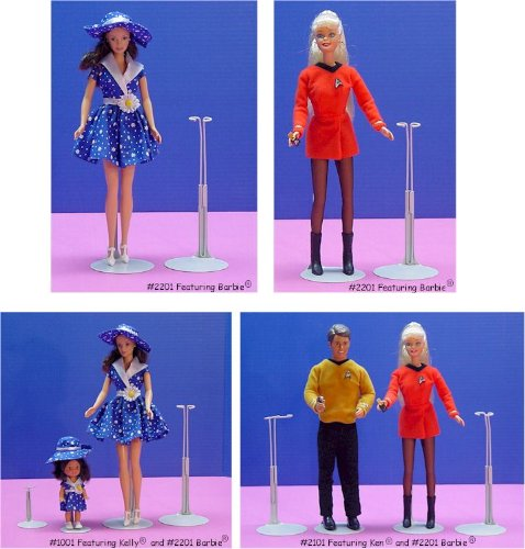 Kaiser Doll Stand 2201 White Doll Stand for 11 to 12 small waisted Fashion Dolls like Barbie 3 Pack