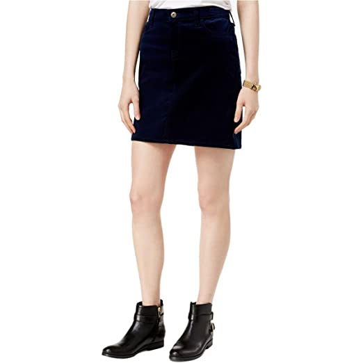 1c71a46bf2 Tommy Hilfiger Womens Corduroy Ribbed Mini Skirt Navy 16 at Amazon ...
