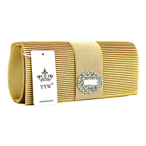 Bags Crystal Evening Formal Ladies Pleated Purse Wedding Clutch for Designer Satin Evening UNYU Silver Handbag Women gvYww