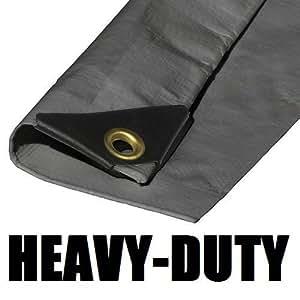 10'x18' extra Heavy Duty 12Mil Silver lona toldo reforzado con revestimiento de 3capas 6oz 3capa (incluye herramientas y lonas juguetes Manual de mantenimiento)