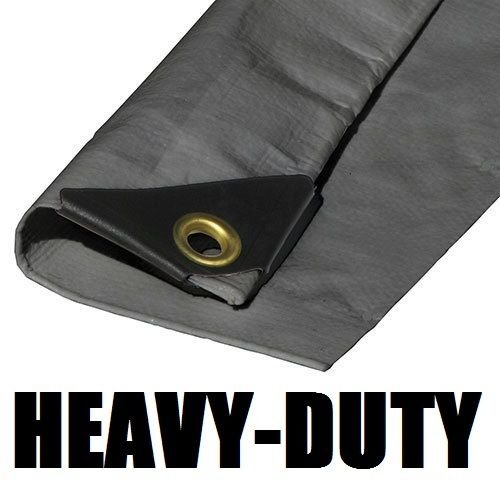 14'X40' EXTRA Heavy Duty 12 mil Silver Tarp 3 Ply Coated Reinforced Canopy 6 oz 3 Layer (Includes Tarps Tools and Toys Maintenance Manual) by TMP (Image #2)