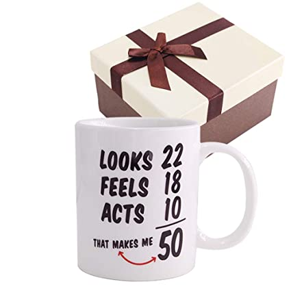 Christmas Gifts1968 50th Birthday Gifts Coffee Cups For MenWomen Novelty Ceramic Mugs Anniversary Or