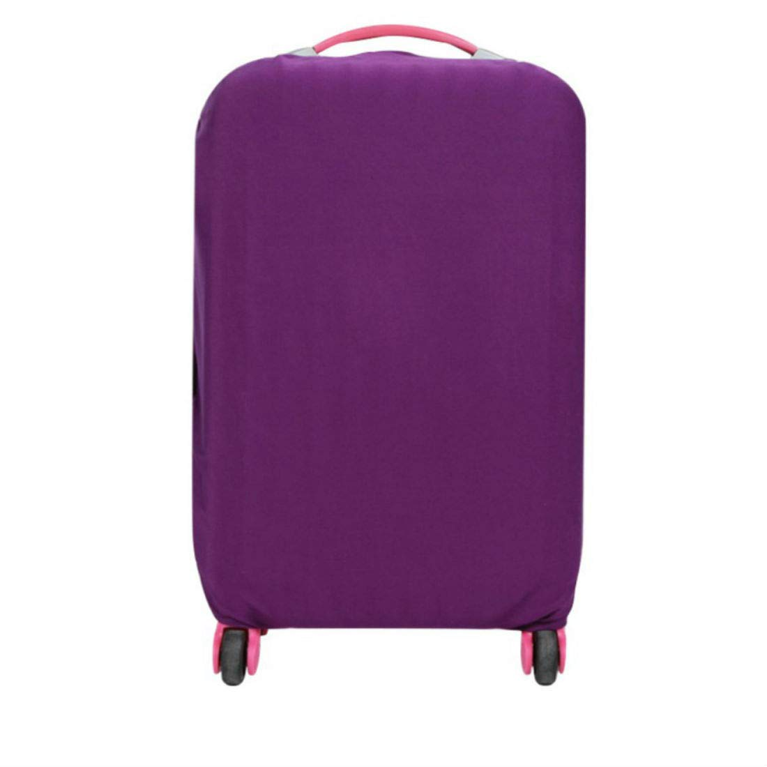 Purple US 18-26 inch Travel Luggage Suitcase Protective Dust-proof Cover Case Protector (M)