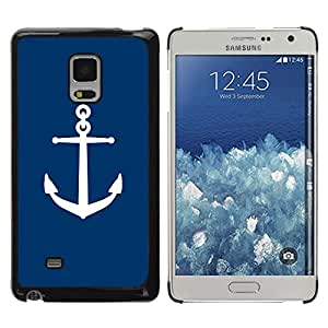 iKiki Tech / Estuche rígido - Deep Blue Navy Captain Sea Boat - Samsung Galaxy Mega 5.8 9150 9152