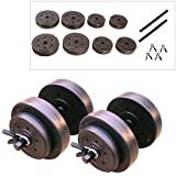 Vinyl Dumbbell Set, 40 Lbs Keep Yourself Fit and Toned with This Dumbbell Set.