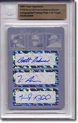 Brett ANDERSON * Tim Alderson * Kyle DRABEK Autograph Rookie Auto Plate 1/1