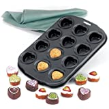 Norpro 12-Piece petite nonstick heart muffin pan