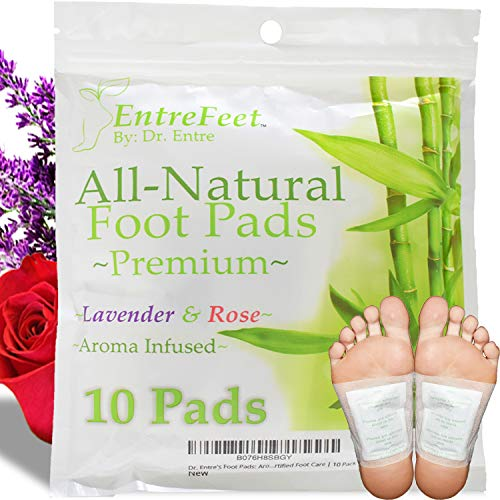 Dr. Entre's Detox Foot Pads: Organic All Natural Formula for Impurity Removal, Pain Relief, Sleep Aid, Relaxation…
