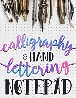 Calligraphy Hand Lettering Notepad Beginner Practice Workbook Introduction To
