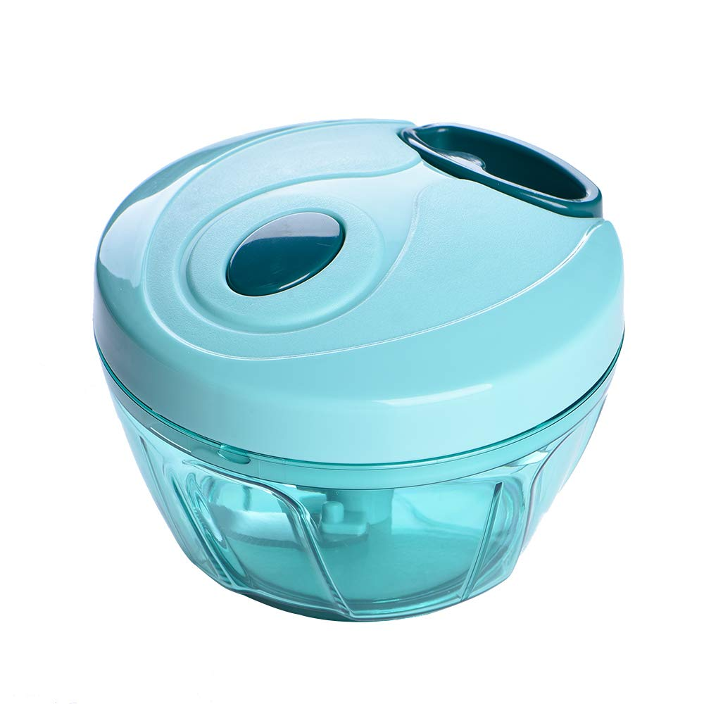 WarmCtrystal, Powerful Mini Food, Vegetable, Garlic, Pepper and Fruit Chopper or Blender or Grinder, Can Make Juices, Drinks, Milkshakes, Vegetable Juices, Sauces and All Kinds of Slime(Blue 16 oz)