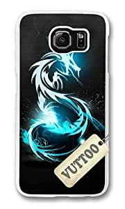 Samsung S6 Case,VUTTOO Stylish Neon Blue Dragon Soft Case For Samsung Galaxy S6 - PC Transparent