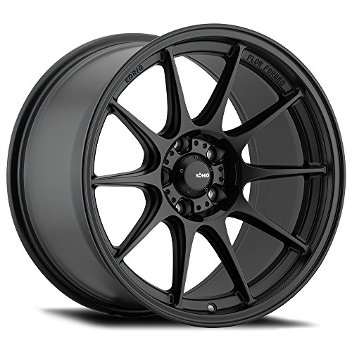 "18"" Inch Konig 57B Dekagram 18x8.5 5x114.3 +45mm Matte Black"
