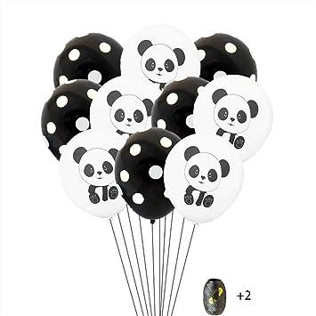 "20PCs 12"" Cow Print Latex Balloons Party Wedding Birthday Decoration Black White"