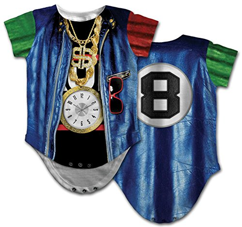 The Rapper Game Halloween Costume (Infant: Old School Rapper Costume Romper Infant Onesie Size 12 Mos)