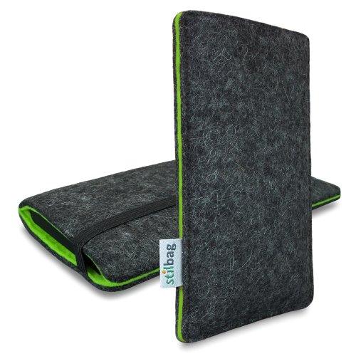 Stilbag Filztasche 'FINN' für Apple iPhone 5s - Farbe: anthrazit/grün