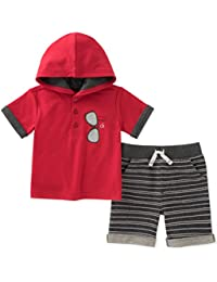 Baby Boys 2 Pieces Hooded Shorts Set