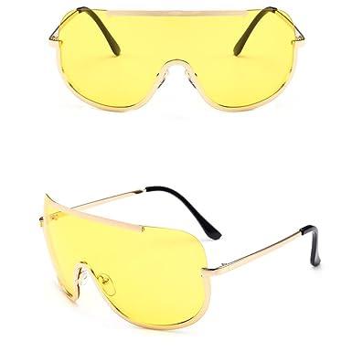 Gusspower Gafas de Sol de Espejo Sin Marco, Pieza Sin ...