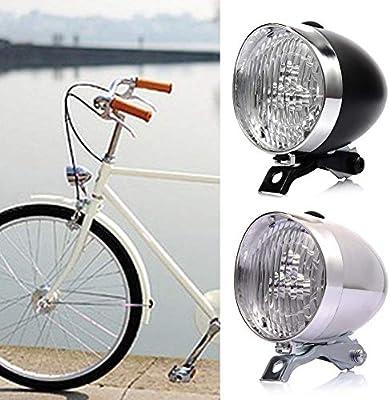 Faros de Bicicleta Retro, 3 Luces Delanteras de Bicicleta LED Luz ...