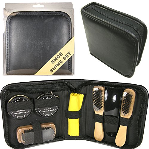 S5041SQ Deluxe Travel Shoe Shine Kit103063-NF by FixtureDisplays