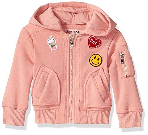 Urban Republic Toddler Ur Girls Fleece Jacket, Peach Blossom 5704TPB, 3T