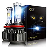 2012 4runner headlight - Cougar Motor LED Headlight Bulbs All-in-One Conversion Kit - H11 (H8, H9) -7,200Lm 6000K Cool White CREE