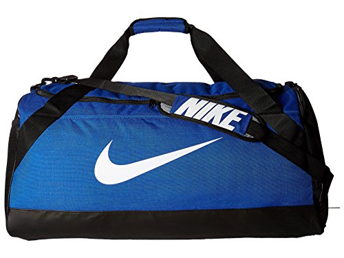 NIKE Brasilia Training Duffel Bag, Game Royal/Black/White, Large