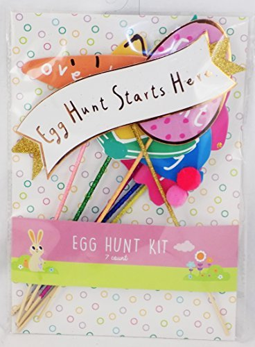 Easter Egg Hunt Kit with Yard and Decoration Signs Easter Bu