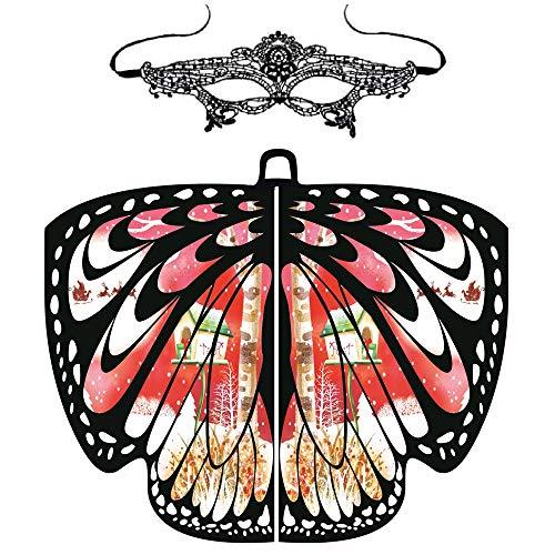 Coohole-01 Butterfly Wings Shawl Scarves, Women Festival Props