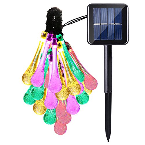 Led Icicle String Lights With Ice Drop : Outdoor Icicle Solar LED String Lights Water Drop Decorations 20 Pcs Ceiling Fan eBay