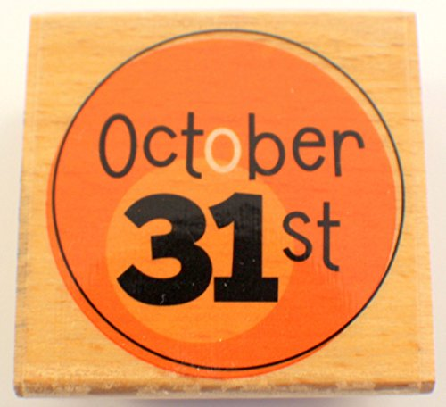 Studio G Happy Halloween October 31 Calendar Words Writing Wooden Rubber (October Halloween Calendar)