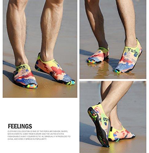 Zapatos De Agua Waltzon Para Mujer Para Mujer Zapatos De Natación De Playa Calcetines De Aqua De Secado Rápido Calzado De Piscina Para Yoga Surf Vatomap / Suela De Camuflaje